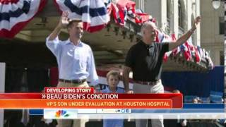 Beau Biden admitted to Texas hospital for tests