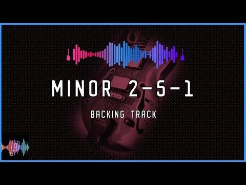 Minor 2-5-1 Jazz Fusion Guitar Backing Track Jam in B Minor