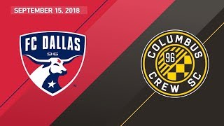 HIGHLIGHTS: FC Dallas vs. Columbus Crew SC | September 15, 2018