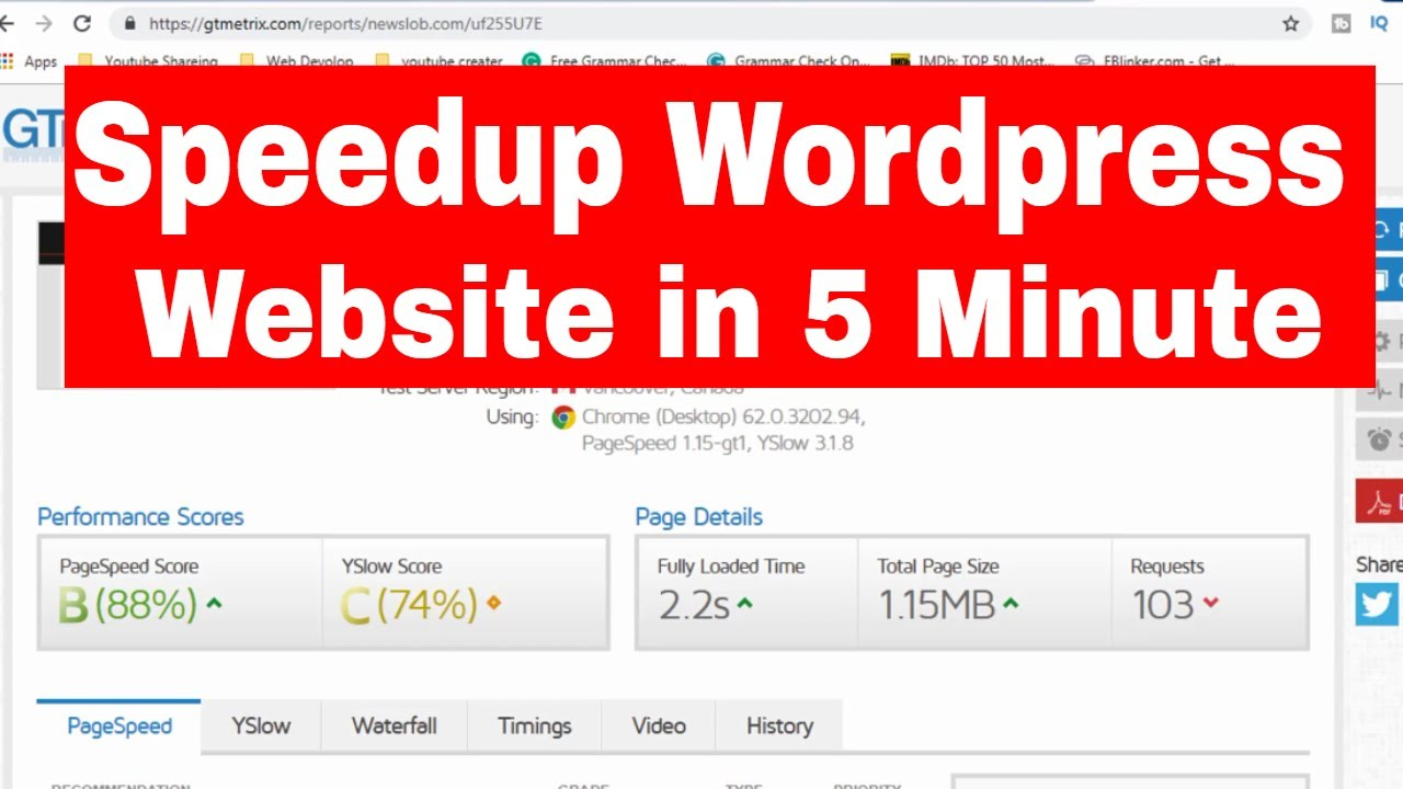 how to speed up your wordpress site to load fast WordPress W