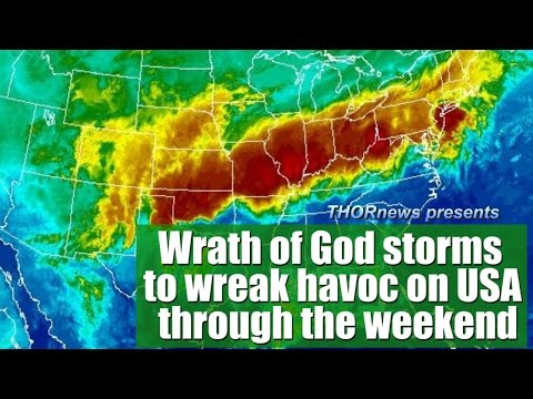 'Wrath of God' style storms to plague the USA w hail & floods & severe weather through weekend