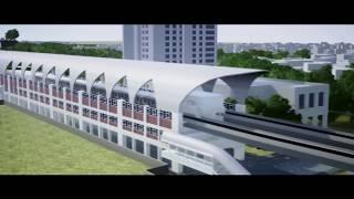 Dhaka Metro Rail MRT Line-6 With English Commentary