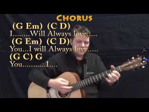 I Will Always Love You (Dolly Parton) Strum Guitar Cover Lesson in G with Chords/Lyrics
