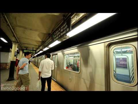 IRT Lexington Subway: R142 (2) Train [via Lex] at Wall St