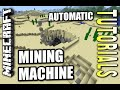 Minecraft PS4 - AUTOMATIC MINING MACHINE - How To - Tutorial ( PS3 / XBOX / WII U )