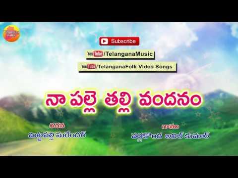 Mittapalli Surender Telangana Songs   Na Palle Thalli Vandanam   Vadlakonda Anil Kumar Folk Songs
