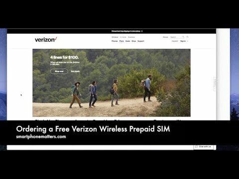 Ordering A Free Verizon Wireless Prepaid SIM