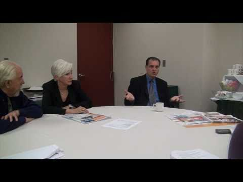 Olympia Dukakis, Louis Zorich and Dr. Silvio Quaglia discuss the importance of Diabetes screening