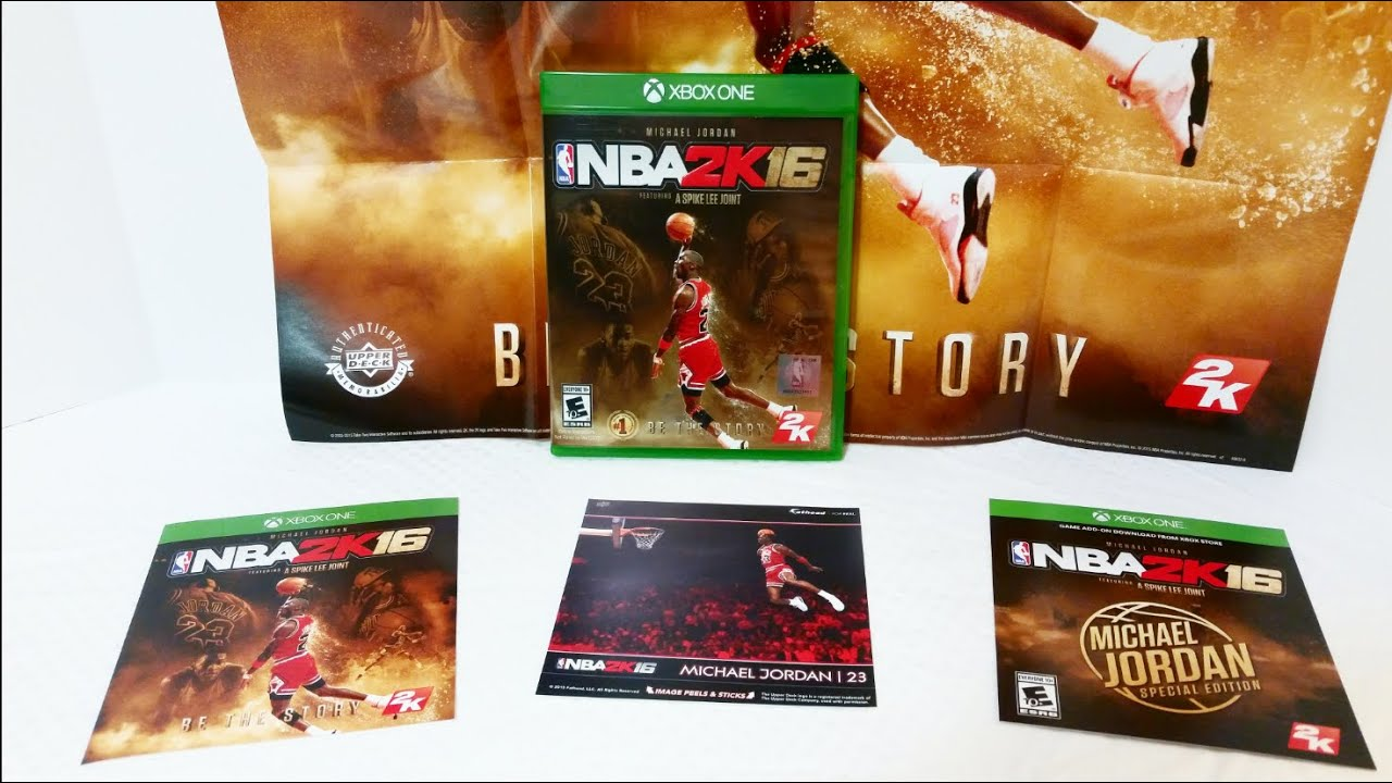 NBA 2K16 Michael Jordan Special Edition Unboxing & Review (Xbox One) -  YouTube
