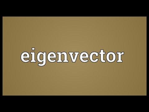 Header of eigenvector