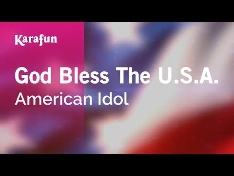Karaoke God Bless The U.S.A. - American Idol *