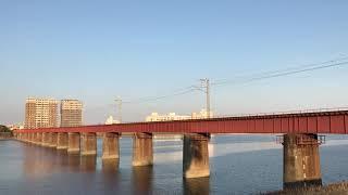 大淀川を渡る列車④ キハ200系「なのはな」