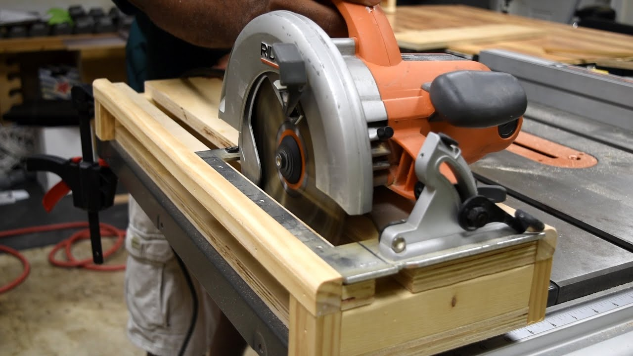 Circular Saw Crosscut Jig Accurate Cuts Youtube