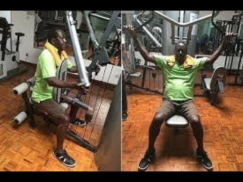 Raila Hits the GYM in His Karen House. He Prepares For the Canaan Journey. (Video)