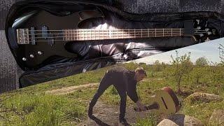 bas esp ltd b 50 unboxing zniszczenie gitary