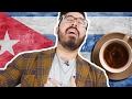 Curly Tries Cuban Coffee