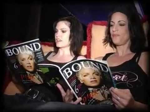 Cathy DeBuono and Jill Bennett with BOUND magazine