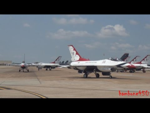 Thunderbirds at Barksdale AFB Airshow 2016