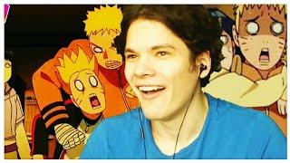 Реакция Еремца на смешные моменты из аниме Боруто!