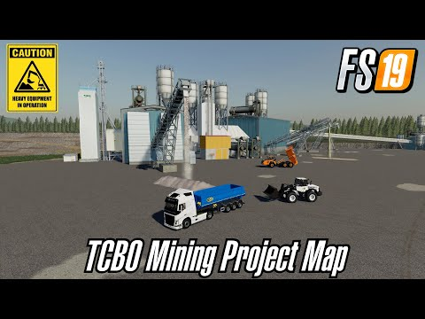 FS19 NEW MINING MAP PRE-RELEASE ACCESS TCBO MINING PROJECT MAP BETA MAP FARMING SIMULATOR 19