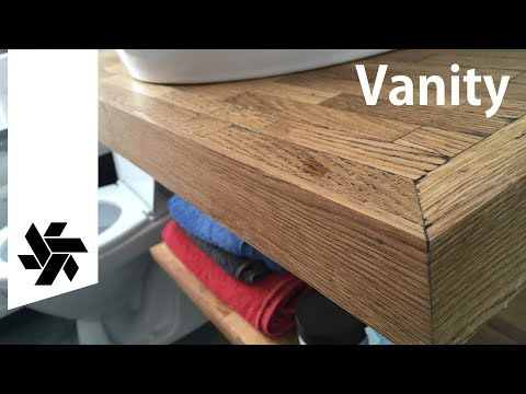 Floating Parquet Vanity // DIY Woodworking, Bathroom part 4