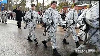 Sotilasvala ohimarssi - Helsinki 15.2.2019 ja vakuutustilaisuudet Santahaminassa - Puolustusvoimat