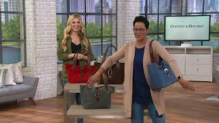 Dooney & Bourke Suede Leather Derby East/West Shopper Handbag on QVC