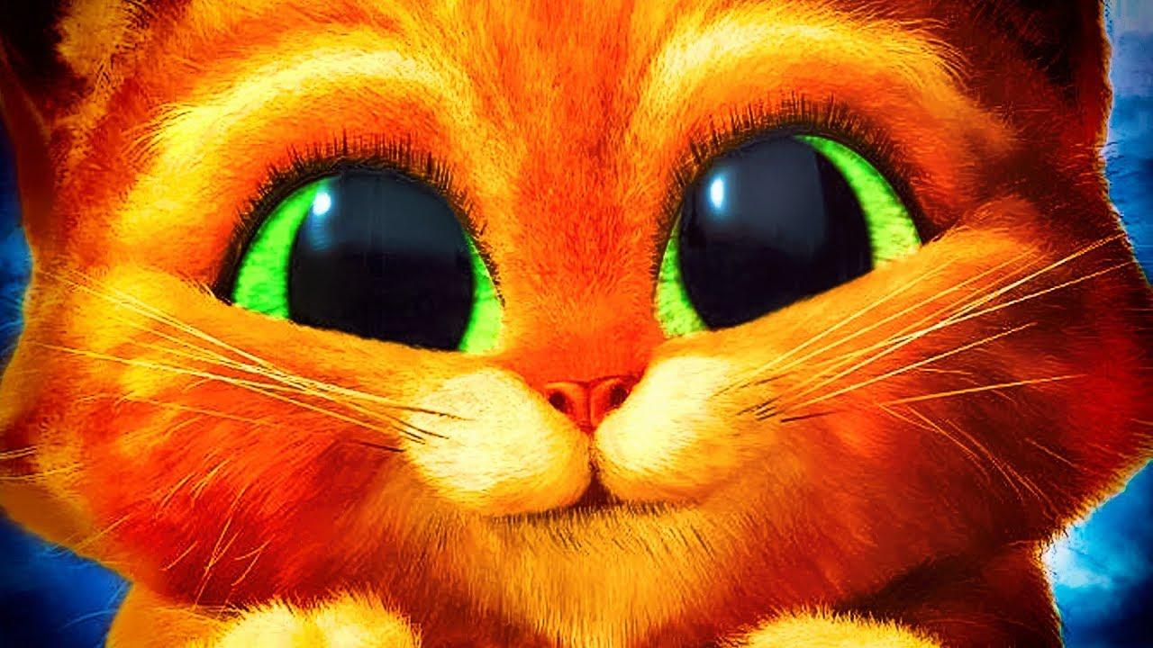 Кот из шрека картинки с глазами
