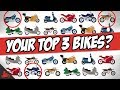 What Are YOUR Top 3 Motorcycles?! 🏍 (Post Up!)
