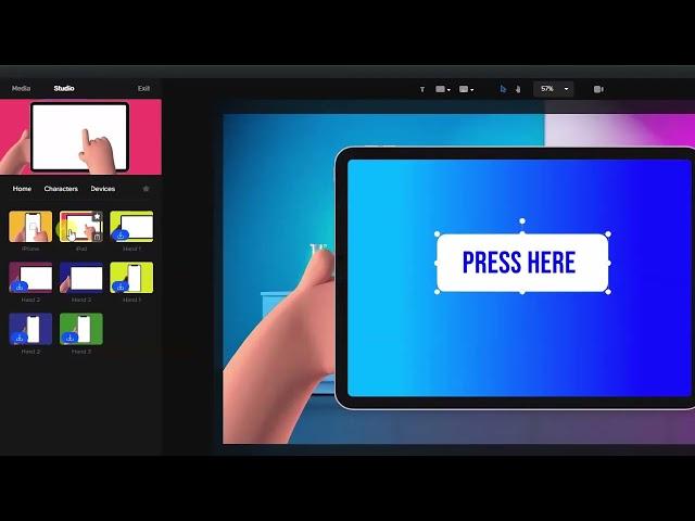 Tablet Swipe Tutorial for CreateStudio 1.9.6 Video Animation Made Easy!