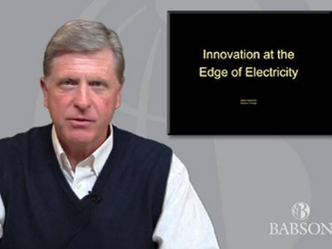 Innovation At The Edge Of Electricity—Babson's Anderson