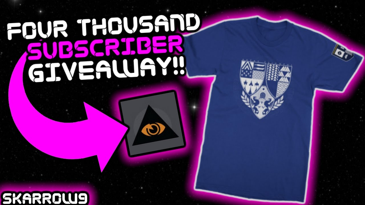 giving away an age of triumph t-shirt, eye of eternity emblem, and