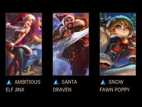 Snowdown 2017 LoL New Skins: Ambitious Elf Jinx, Santa Draven, and Snow Fawn Poppy