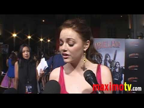 Emma Stone - Interview at ZOMBIELAND Premiere
