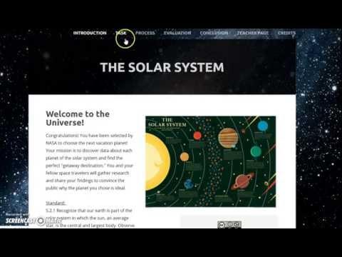 Solar System Web Quest