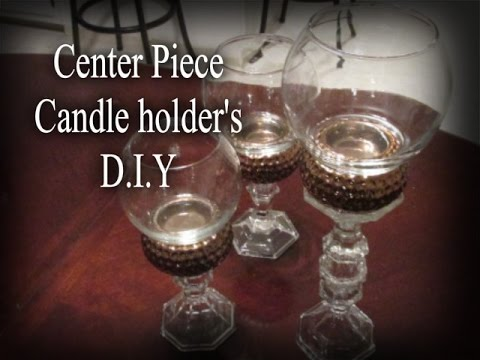 Dining Table Center Piece Candle Holder 39 S DIY YouTube