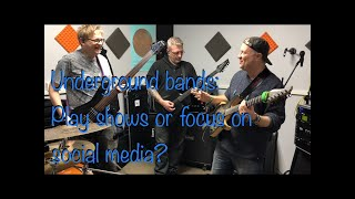 Should bands bother playing live or just focus on social media? ZeroPointZero's last rehearsal 2019