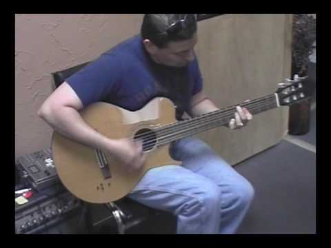 This video was caught when visiting a friend's music store in Tampa while trying out one of the guitars.