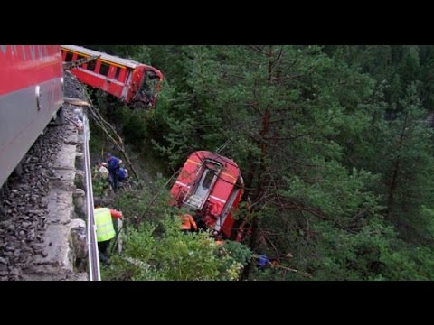 11 injured after Swiss passenger train derailed by mountain landslide