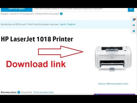How To Hp Laserjet 1018 Printer Driver Download Youtube