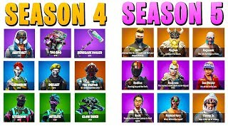 Season 4 vs Season 5 in Fortnite... | Chaos