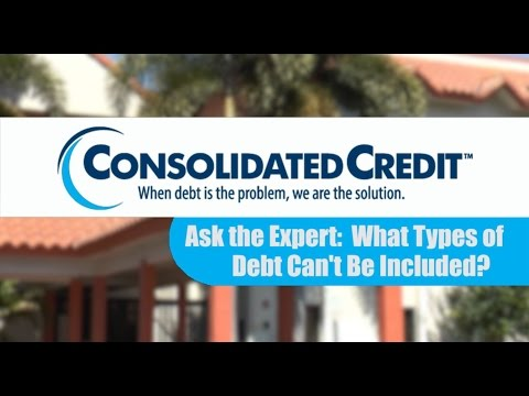 What Types of Debt Can't Be Included?