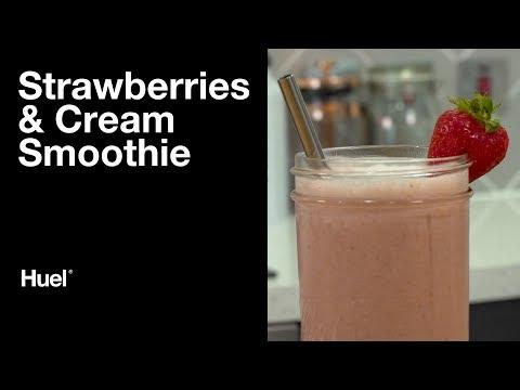 Huel Strawberries and Cream Smoothie