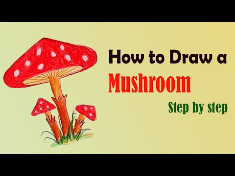 How to draw a Mushroom Step by Step 2021 - Only Drawing #DrawingTutorial