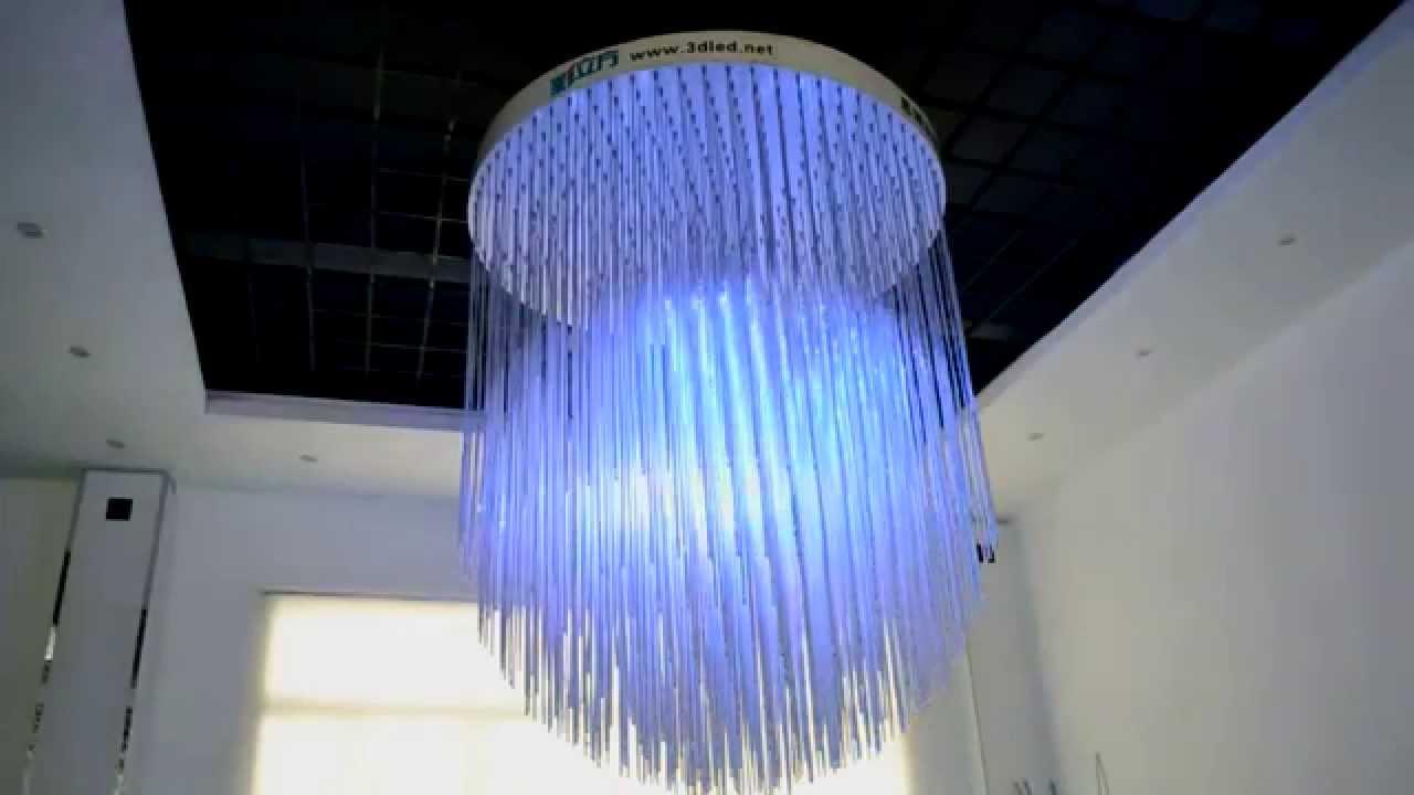 3D LED Matrix Light chandelier for hotel lobby by eimodule YouTube – Led Light Chandelier