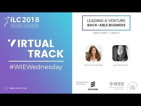 #WIEWednesday 2018: Leading a Venture Back-able Business