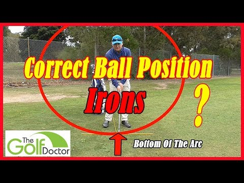 Golf Swing Fundamentals – Ball Position For Irons