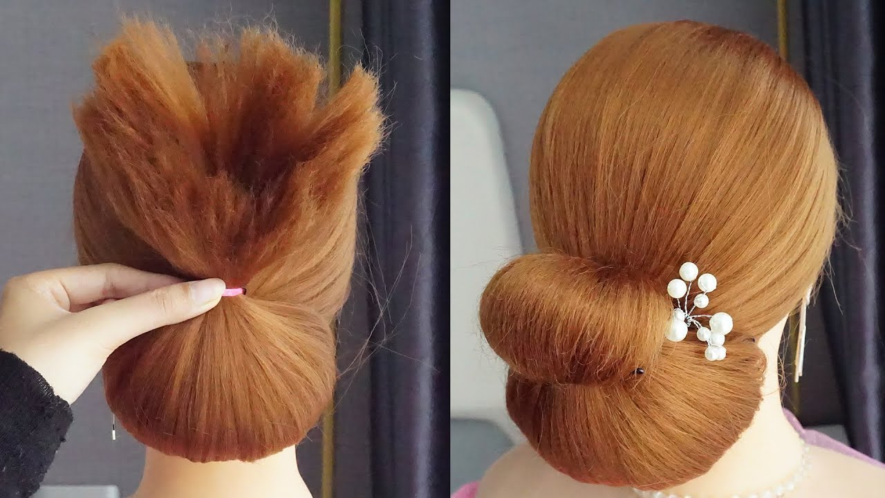 Latest Juda Hairstyle For Party | Low Bun Hairstyle | Updo Hairstyles For Prom | Ladies Hair Style