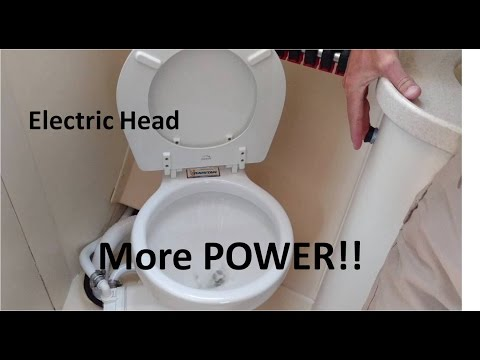 How to replace a manual head with an electric head on a sailboat.
