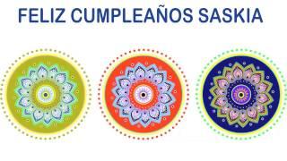 Saskia   Indian Designs - Happy Birthday